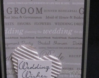 Gray Wedding Wishes Greeting Card