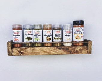 Spice Rack, Spice Holder, Floating Shelf