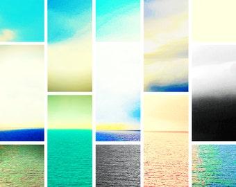 Digital Print Abstract Ocean Scenery