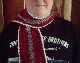 Scarlet and Grey Buckeye fever scarf