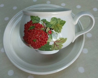 Portmeirion Pomona Breakfast Cup and Saucer 'The Red Currant' Interior Design BoutiqueByDanielle