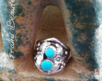 Native-american turquoise and sterling  silver ring