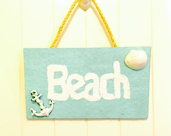 Handmade Beach Sign - FREE SHIPPONG!
