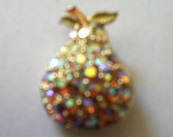 Rhinestone pear pin