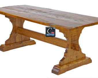 English Oak Medieval Style Dining Table | Seats 8