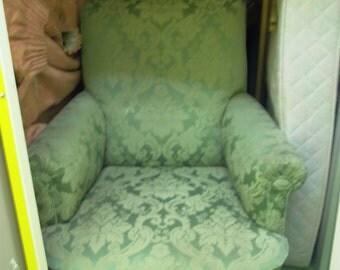 Green Damask  chair