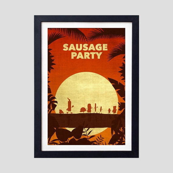 Sausage Party Poster Sausage Party Minimalist Sausage Party