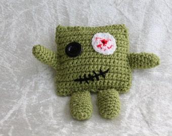Crochet Zombie, Plush Toy, Handmade, Halloween, Monster