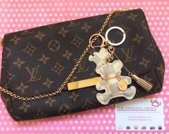 SALE Louis Vuitton Inspired Keyring / Diary / Handbag Teddy Bear Charm