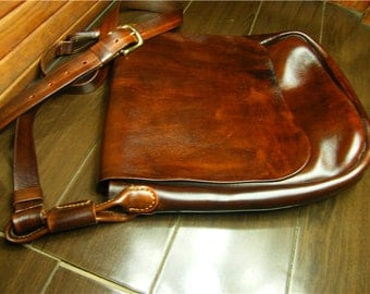 Cross body bag/ purse/Brown leather cross body purse/free shipping