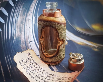 Personalised Message In A Bottle - Will You Marry Me - Marriage proposal - Steampunk - Gift For Women/Men