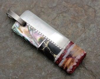 Handmade Pendant w/ Molar, Abalone, Pearl & More by A.L. Adams