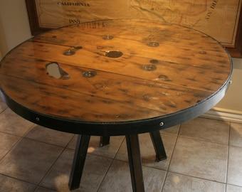 Wood spool table