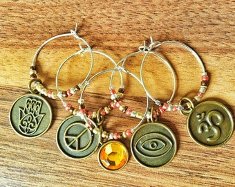 Set of 5 Wine Charms