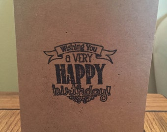 Homemade birthday card- Very happy birthday message