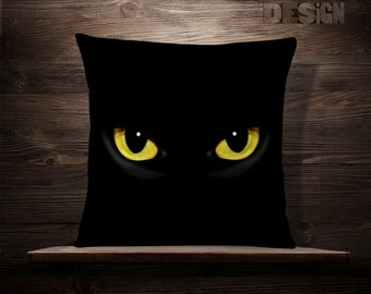 black cat pillow cat decor halloween throw pillows halloween decorations halloween gift