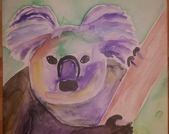 Watercolor Koala Bear