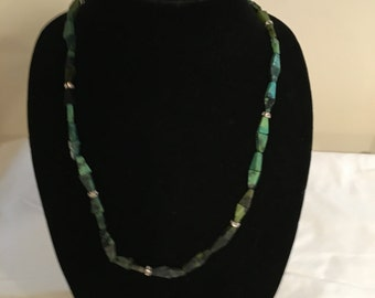 Yellow Turquoise with Swarovski spacer beads necklace
