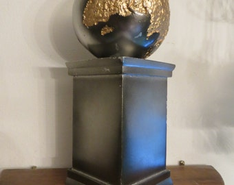 World globe and pedestal  w/ free ship