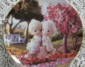 Vintage Plate Precious Moments Collectibles Love One Another Collectors Plate 1993 Sam Butcher Hamilton Collection Wedding Decor