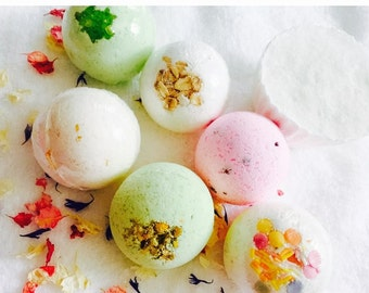 New aromas 6 bath bombs gift set aromatherapy+one floating island by spring Manía