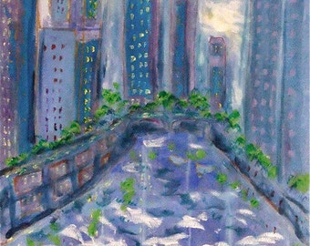 Chicago River View -print