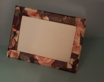 Rose decoupaged photo frame