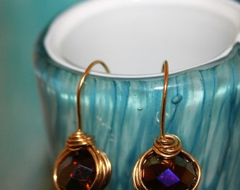 Gold field wire earrings