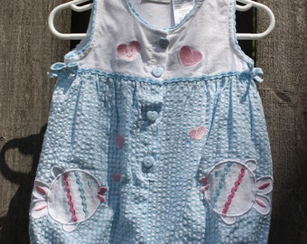 Vintage Toddler Girls  Romper Size 24 months by Cradle Togs