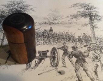 American Civil War Wooden ink bottle