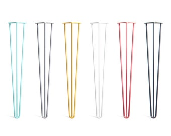 4 x Hairpin Legs - Desk / Dining Table - 28 inch / 71 cm (All Styles and Finishes)