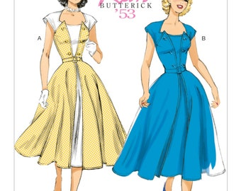 """Butterick 6211 - MSRP 19.95 (our price 11.65) """"Retro"""" series in E5 (14-16-18-20-22) - NEW!"""