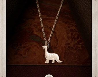 DIPLODOCUS diplodocus dinosaur silver necklace minimalist jurassic park dino COS006