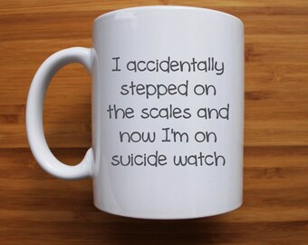 I accidentally stepped on the scales mug