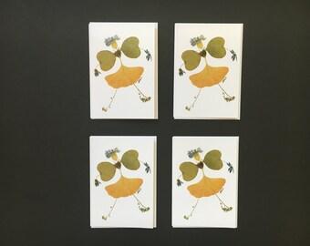 "Set of 4 Cards - ""Prim and Proper"" Card Prints"