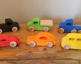 SET OF 3-Wooden Toy Cars, Toy Car, Wood Car, Toy,Toddler Toy Car, Gift Toy for Babies, Toddlers and Preschool, Racing, Racecars, Racing Toys