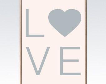 Love 50cm x 70cm print