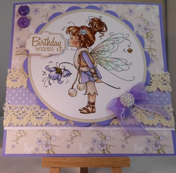 Fairy Birthday Card - luxury personalised unique quality special bespoke UK - Mum/Grandma/Daughter/Aunt/Niece/Sister