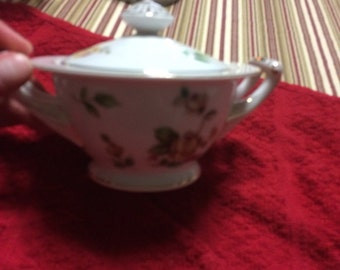 Lynnmore Golden Rose Sugar Bowl