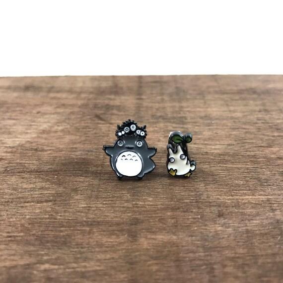 Totoro Earrings, Totoro Studs, Studio Ghibli Earrings, Studio Ghibli Studs