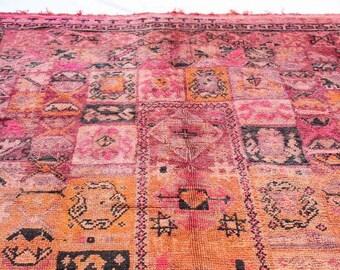 """Large Vintage Moroccan Chiadma Rug Boho Chic Bohemian 9' 3"""" x 6' 10"""""""