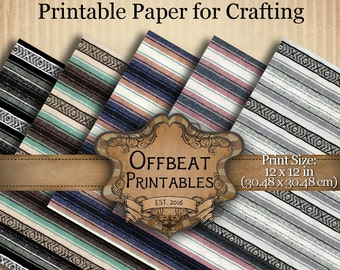 Printable Mexican Serape Blanket Paper Scrapbooking Wrapping Paper Download Hipster Crafting Southwest Woven Textured Scrapbook Paper