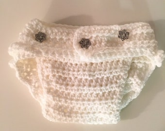 Crochet Ruffle Bloomer