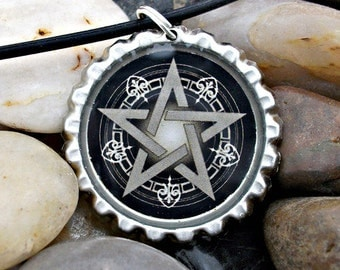 Pentagram Bottlecap Necklace