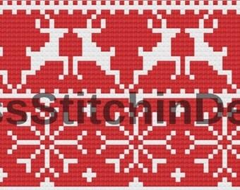 DIGITAL DOWNLOAD Cross Stitch Design - Christmas Sampler/Christmas Jumper style pattern