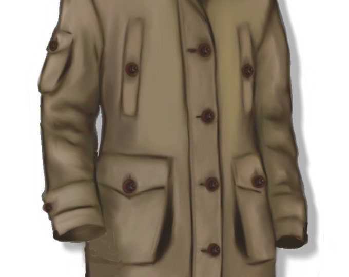 Men's Parka pattern, Large size (52), PDF file, A4 pages