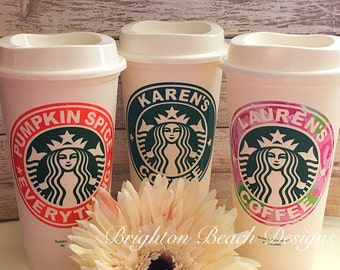 Personalized Starbucks Cup/Valentines Gift/Custom Starbucks Cup/Coffee Cup/Personalized Coffee Cup/Gift For Her/Teacher Gift/Gift or Him