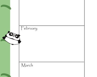 A5 Panda Key Dates To Remember Insert