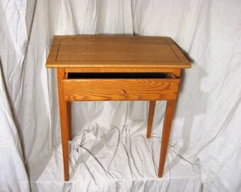 Shaker Solid Oak End Table