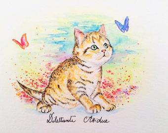 Kitten in a dream